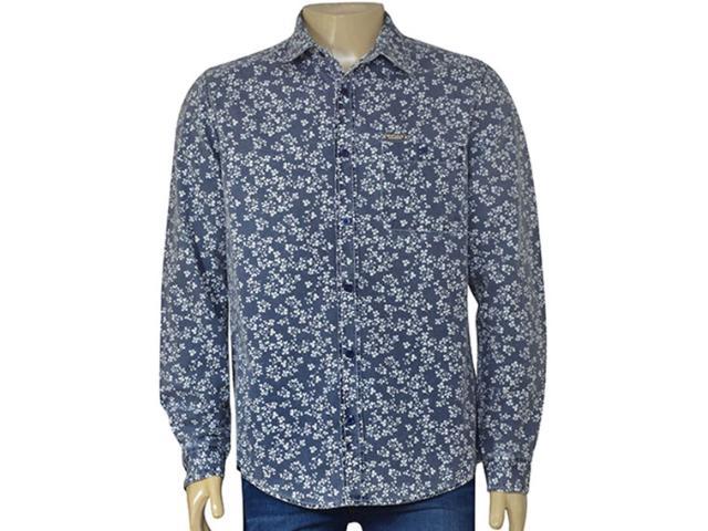 Camisa Masculina Index 07.01.000319 Marinho Floral