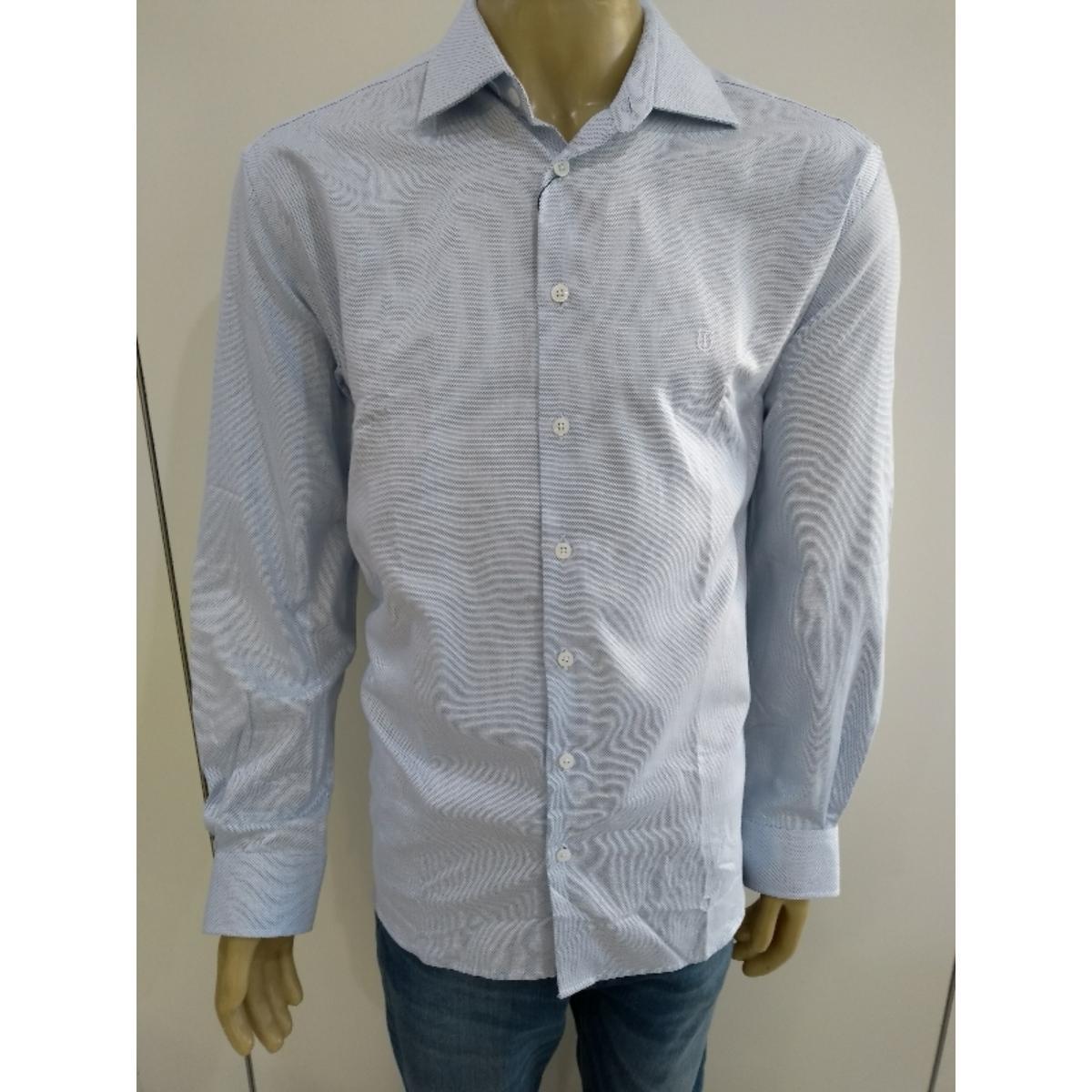 Camisa Masculina Individual 53.03.1075.02 Azul/branco