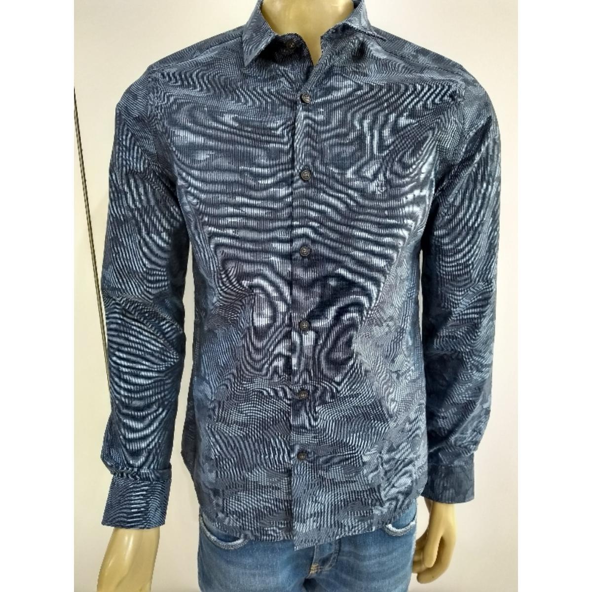 Camisa Masculina Individual 53.03.1002 48 Azul