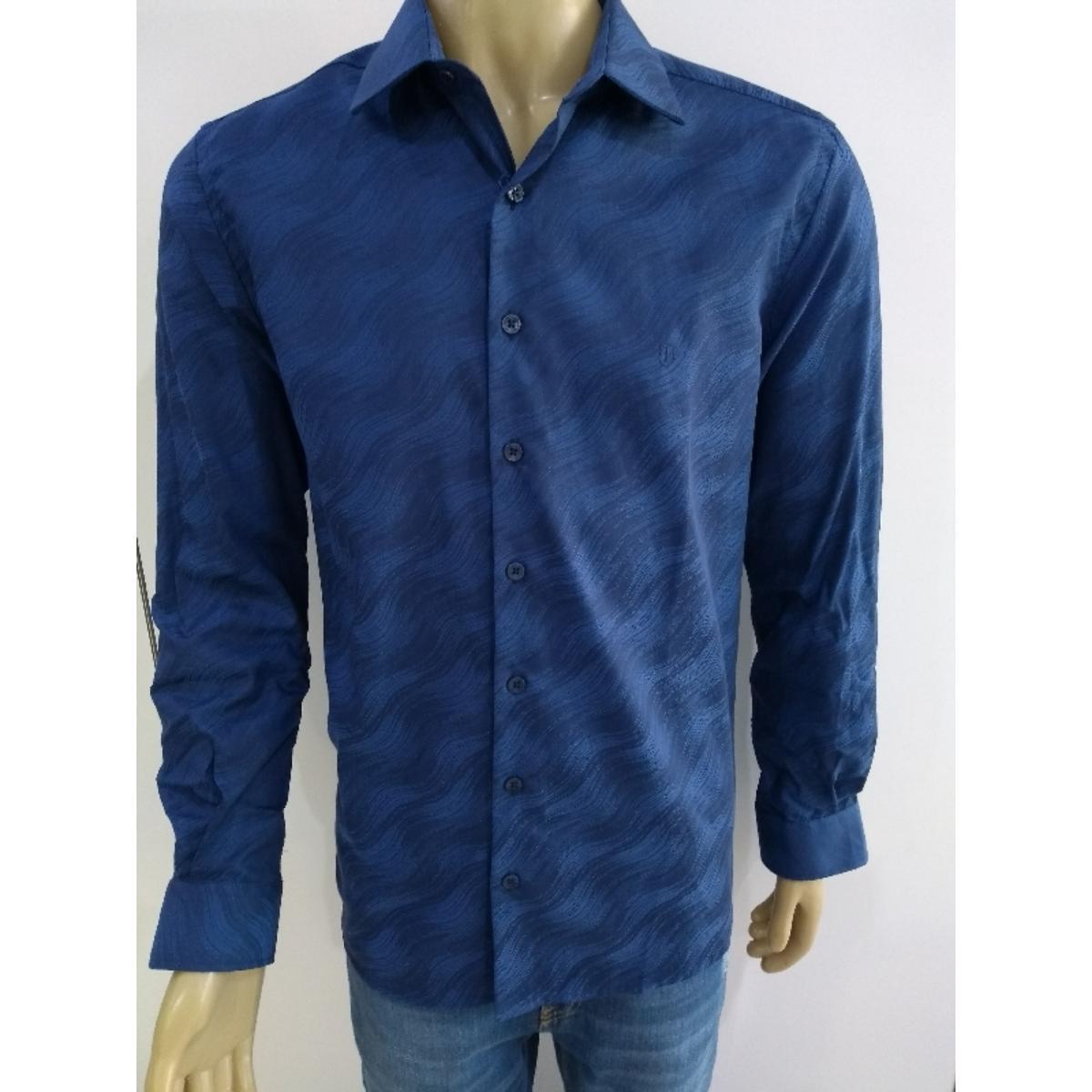 Camisa Masculina Individual 53.03.0989 48 Azul