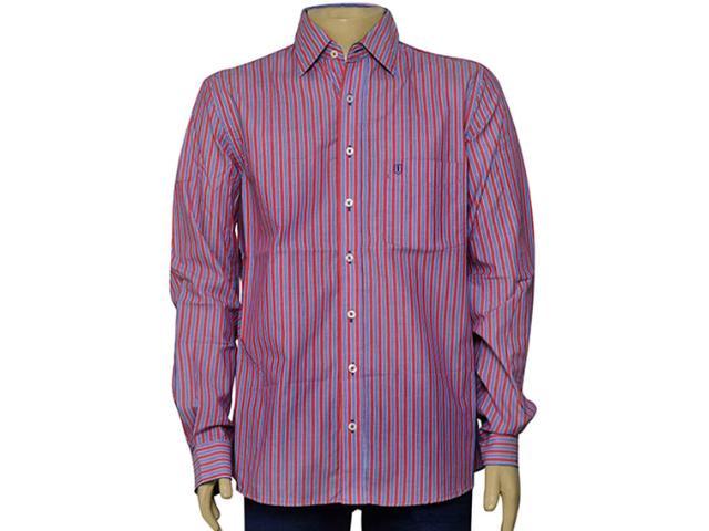 Camisa Masculina Individual 302.25837.001 Listrado Vermelho/azul