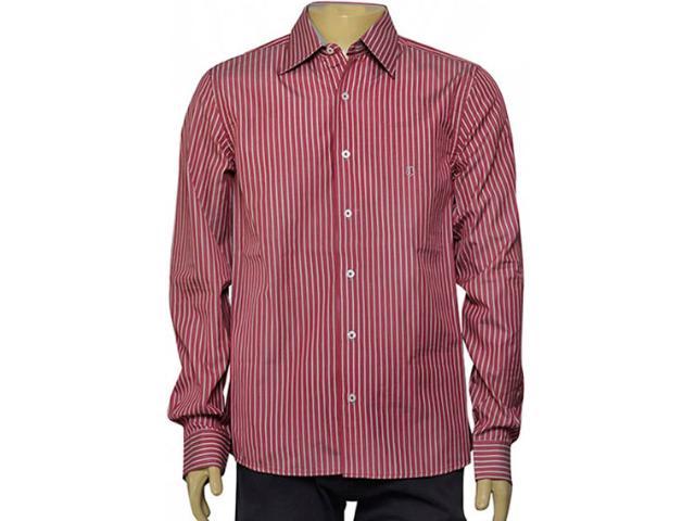 Camisa Masculina Individual 302.25775.001 Listrado Vermelho/branco