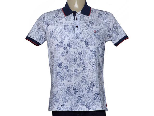 Camisa Masculina Individual 98306.22222.379 Branco/marinho/vermelho
