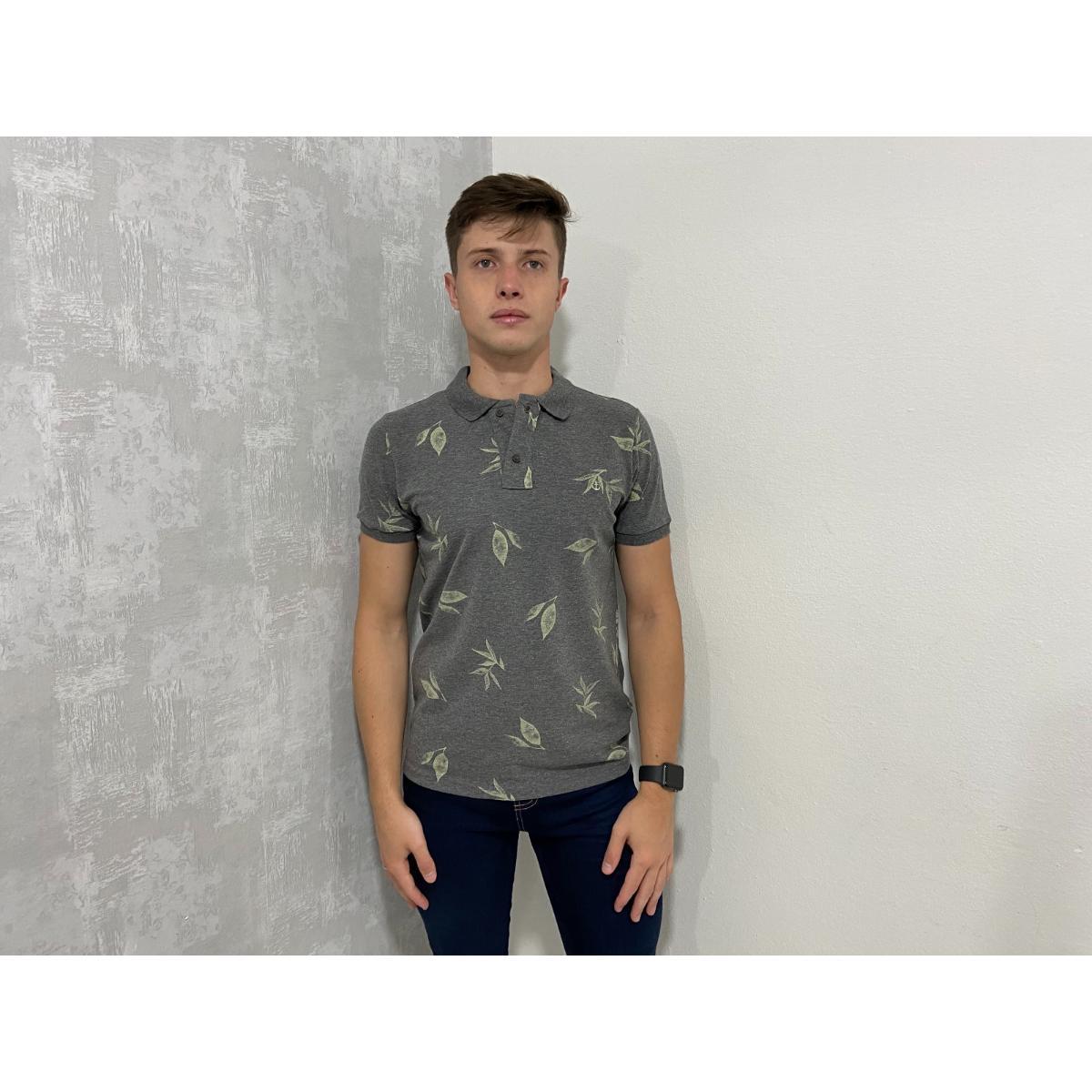 Camisa Masculina King & Joe Po09304 Grafite/mescla