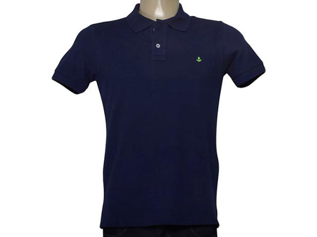 Camisa Masculina King & Joe Po09001 Marinho