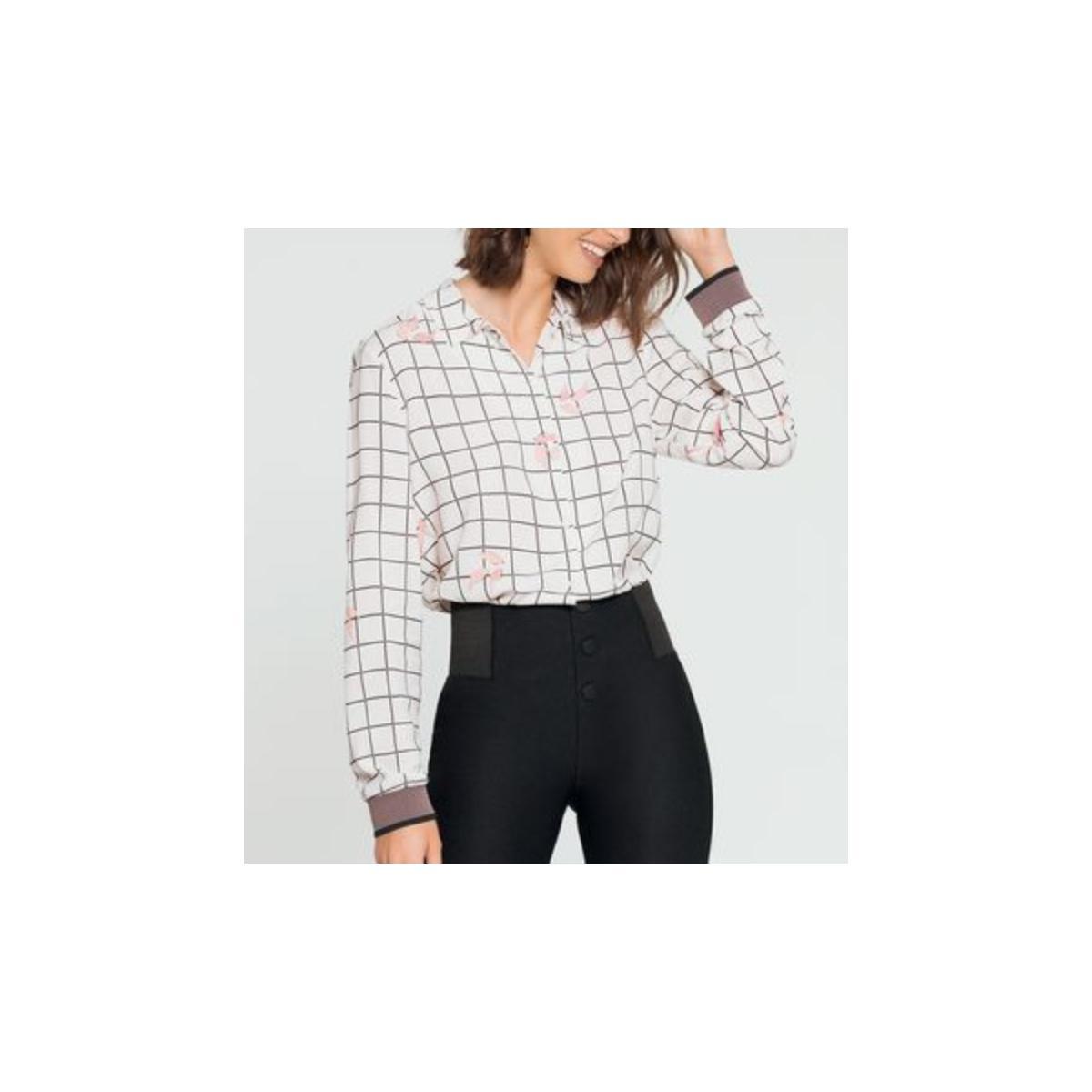 Camisa Feminina Lunender 60100 Branco