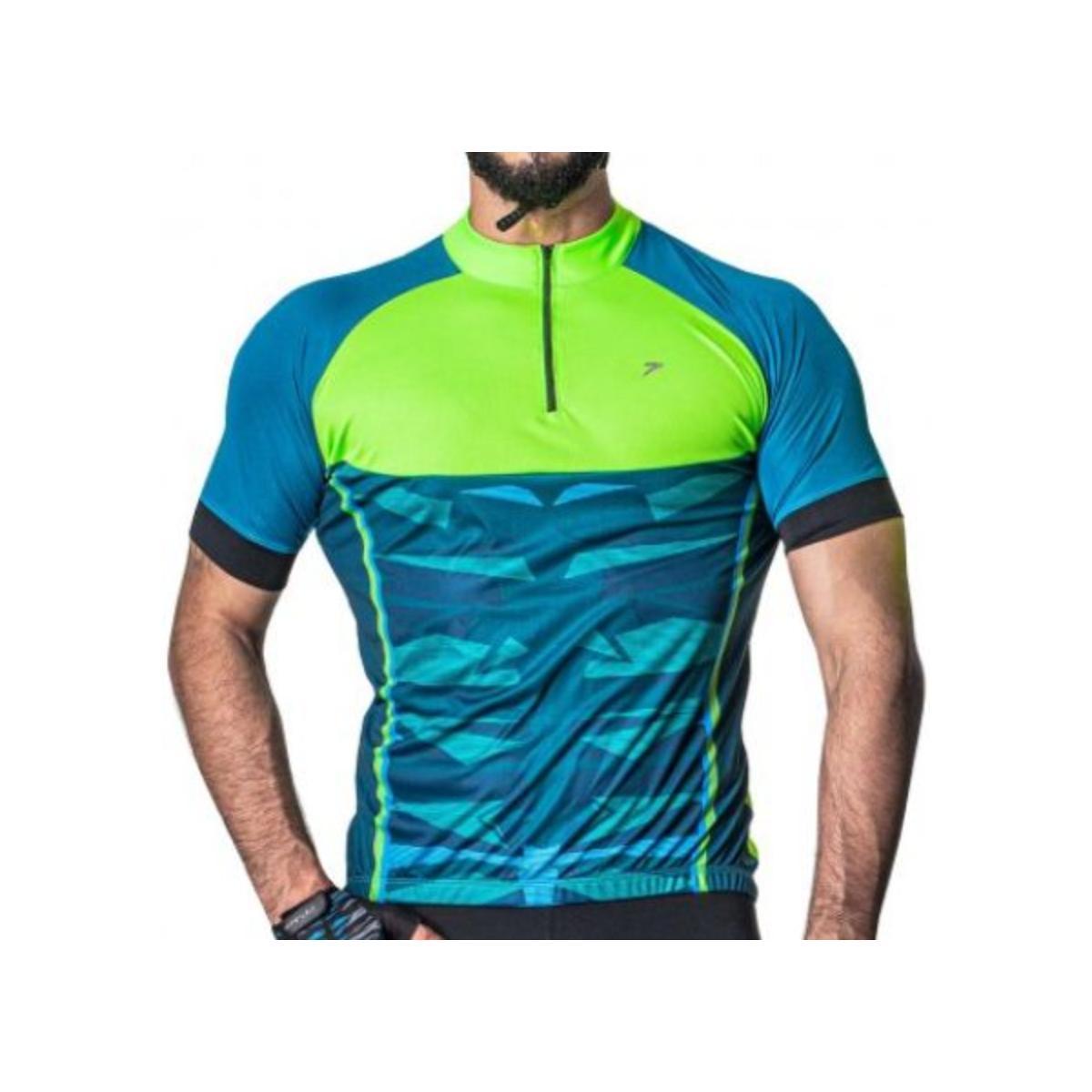 Camisa Masculina Poker 04228 Azul/aqua/verde