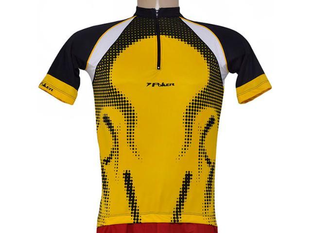 Camisa Unisex Poker 04876 Preto/amarelo/branco