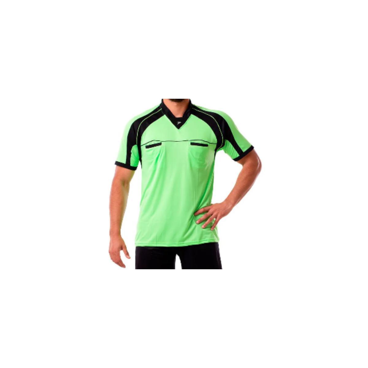 Camisa Masculina Poker 04051 Verde Neon/preto