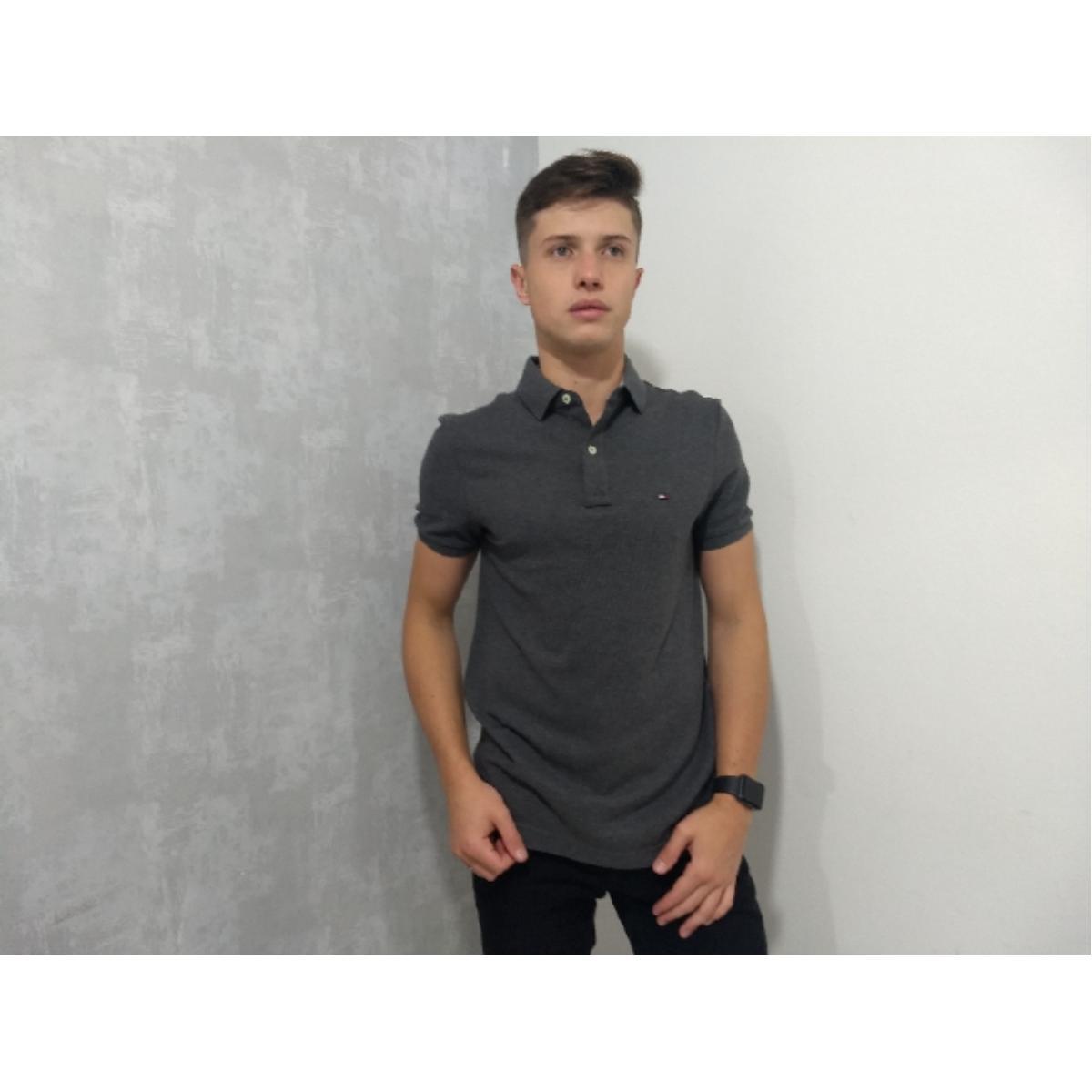 Camisa Masculina Tommy Th7803120 043 Grafite