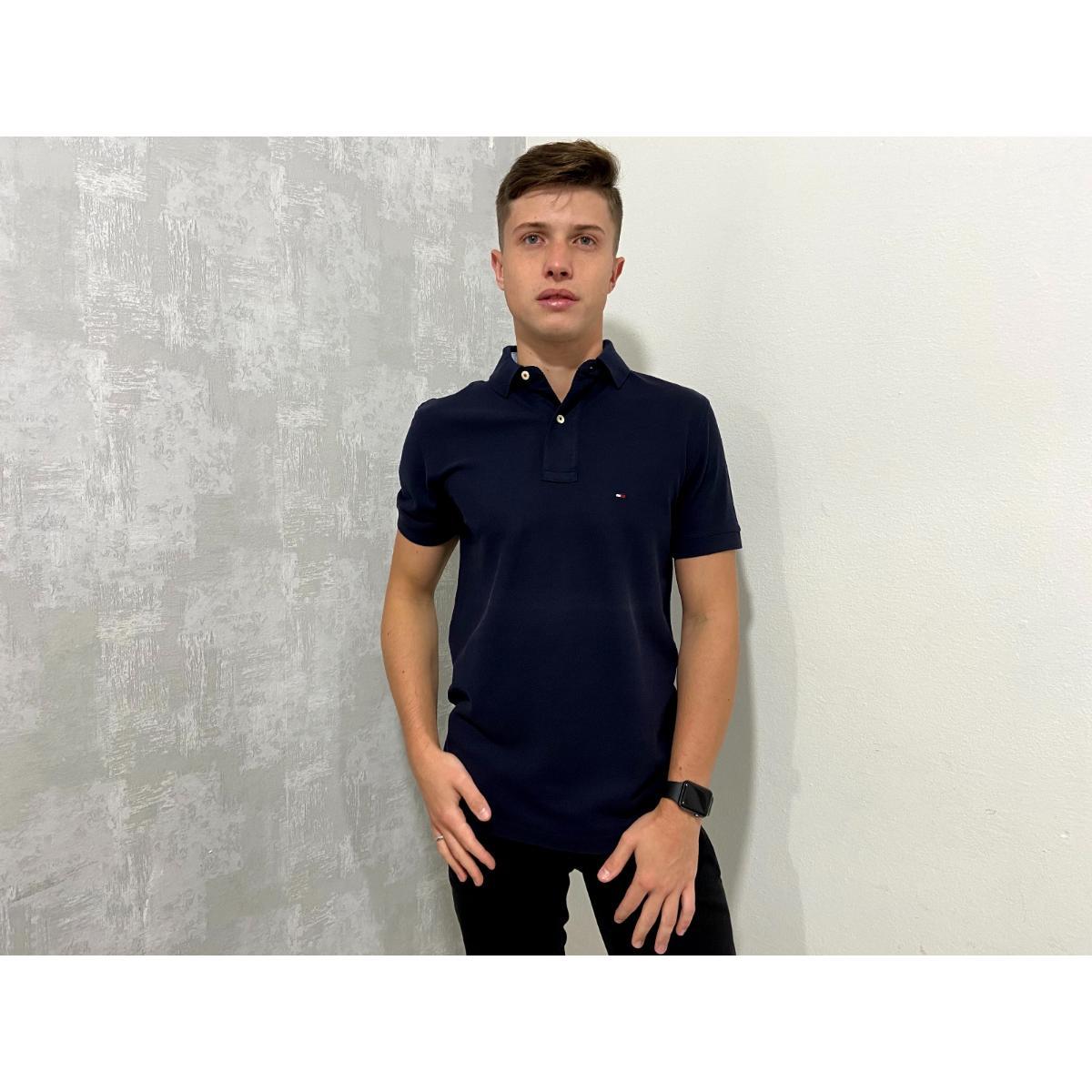 Camisa Masculina Tommy Th0867878433 Marinho