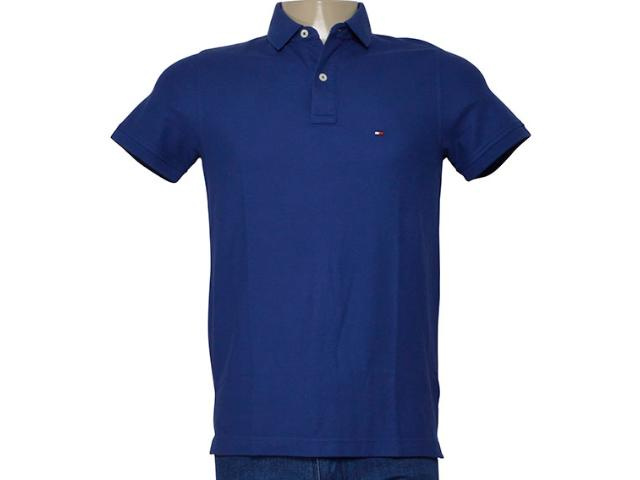 Camisa Masculina Tommy Th0857889250 Azul