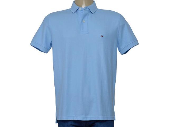 Camisa Masculina Tommy Th0857889198 Azul Claro