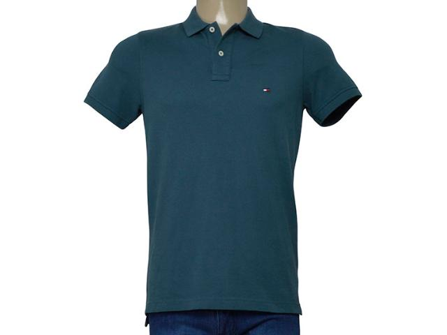 Camisa Masculina Tommy Th0857879131 Verde