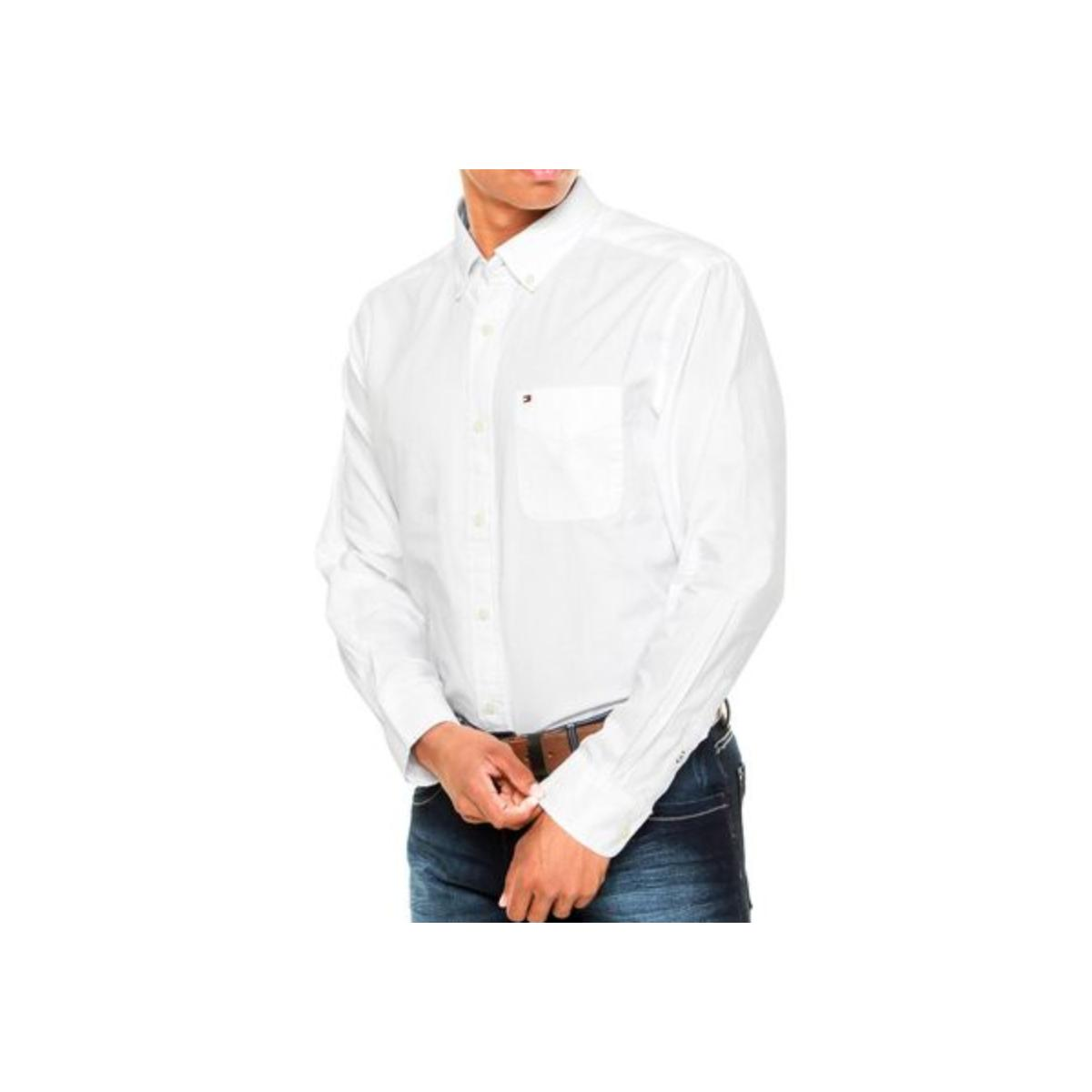 Camisa Masculina Tommy Th0867897746 Off White