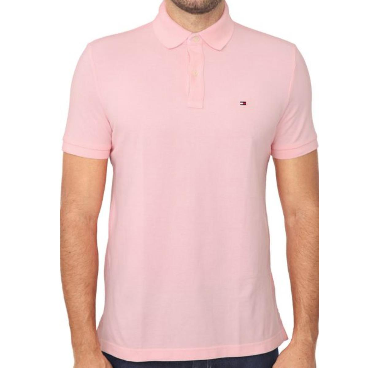 Camisa Masculina Tommy Th7803120 684 Rosa
