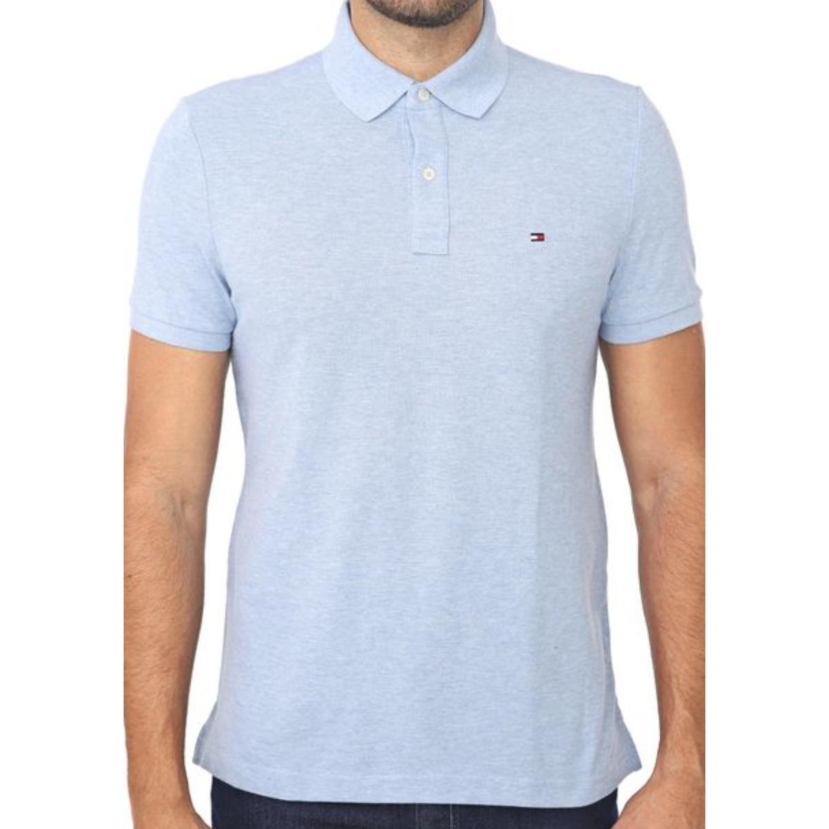 Camisa Masculina Tommy Th7803120 425 Azul Claro