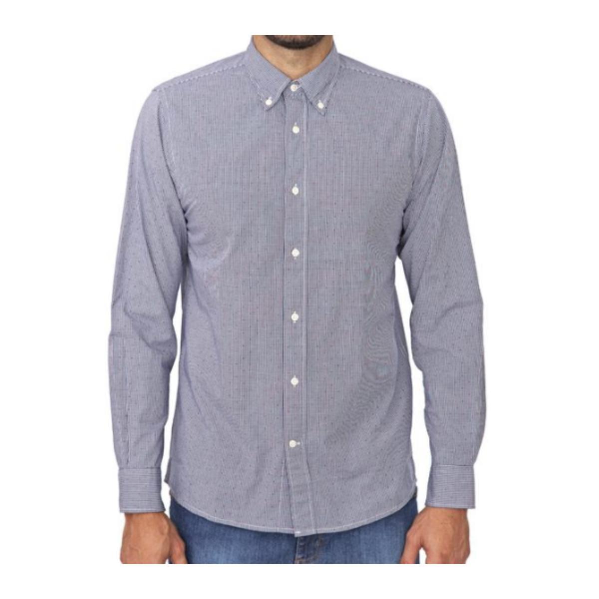 Camisa Masculina Tommy Thmw0mw13426 Branco/azul Xadrez