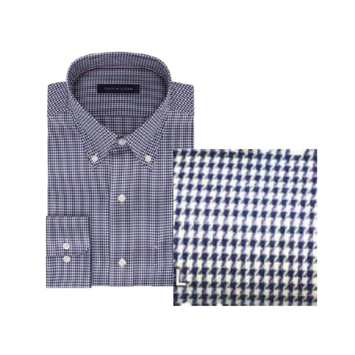 Camisa Masculina Tommy Th17fl737 Th461 Azul/branco