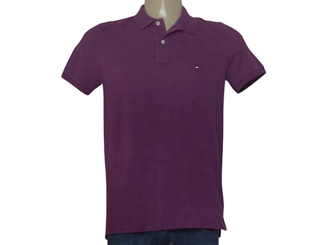 Camisa Masculina Tommy Th0857879131 Vinho