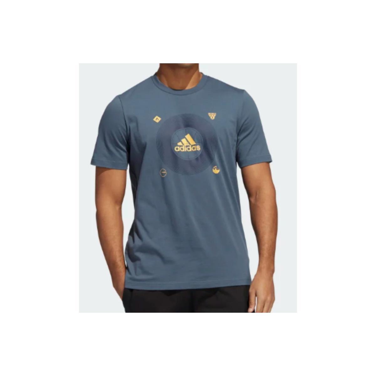 Camiseta Masculina Adidas Ge4512 Bos Icons m  Petróleo
