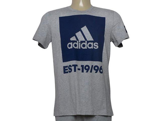 Camiseta Masculina Adidas Cd9146 Overbranding Mescla/marinho