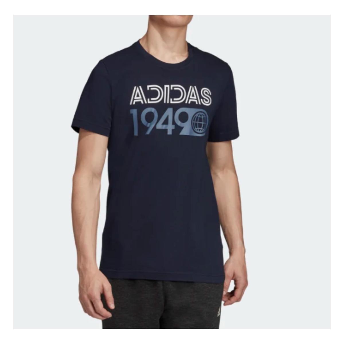 Camiseta Masculina Adidas Ed7266 mh Lineage Tee Marinho