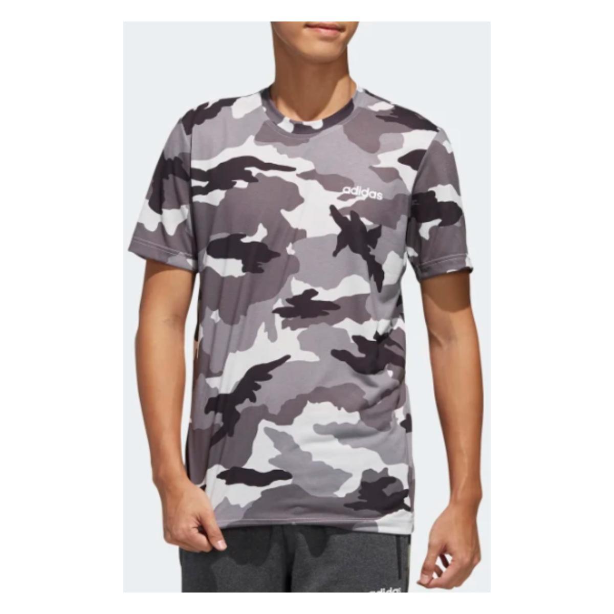 Camiseta Masculina Adidas Fl0279 m Aop Camuflada