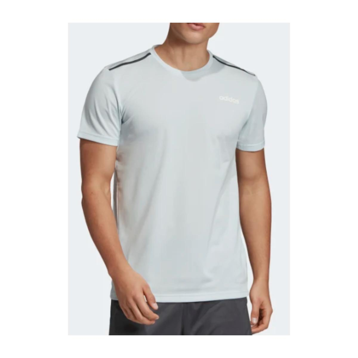 Camiseta Masculina Adidas Ei9763 m em Tee Azul Claro