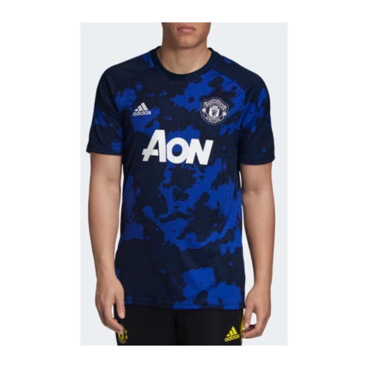 Camiseta Masculina Adidas Dx9089 Pre Jogo Man United i Royal/marinho