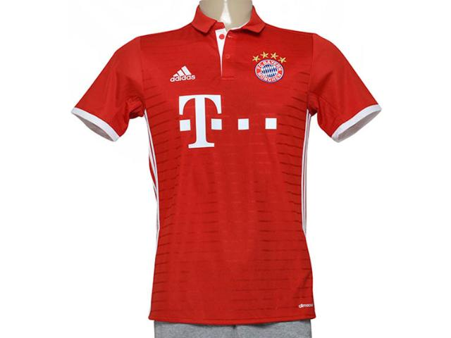 Camiseta Masculina Adidas Ai0049 Bayern i Vermelho