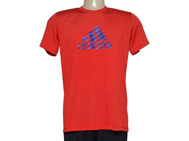 Camiseta Masculina Adidas Ab2516 Pes Print 1 Vermelho