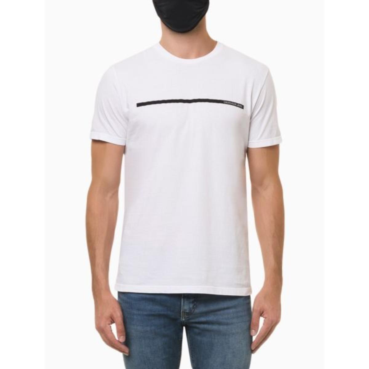 Camiseta Masculina Calvin Klein Ckjm102 Branco