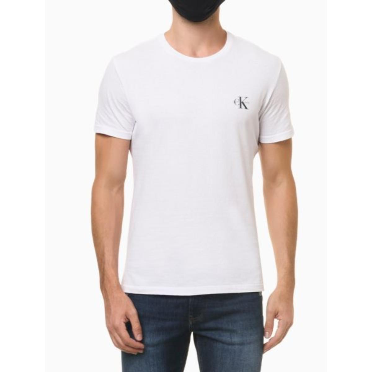 Camiseta Masculina Calvin Klein Ckjm103 Branco