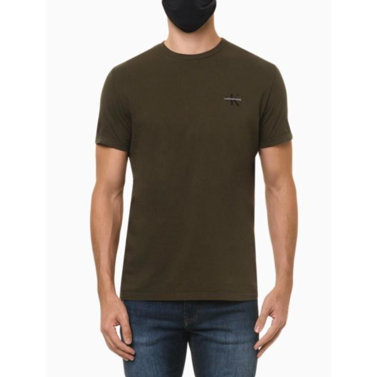 Camiseta Masculina Calvin Klein Ckjm103 Militar