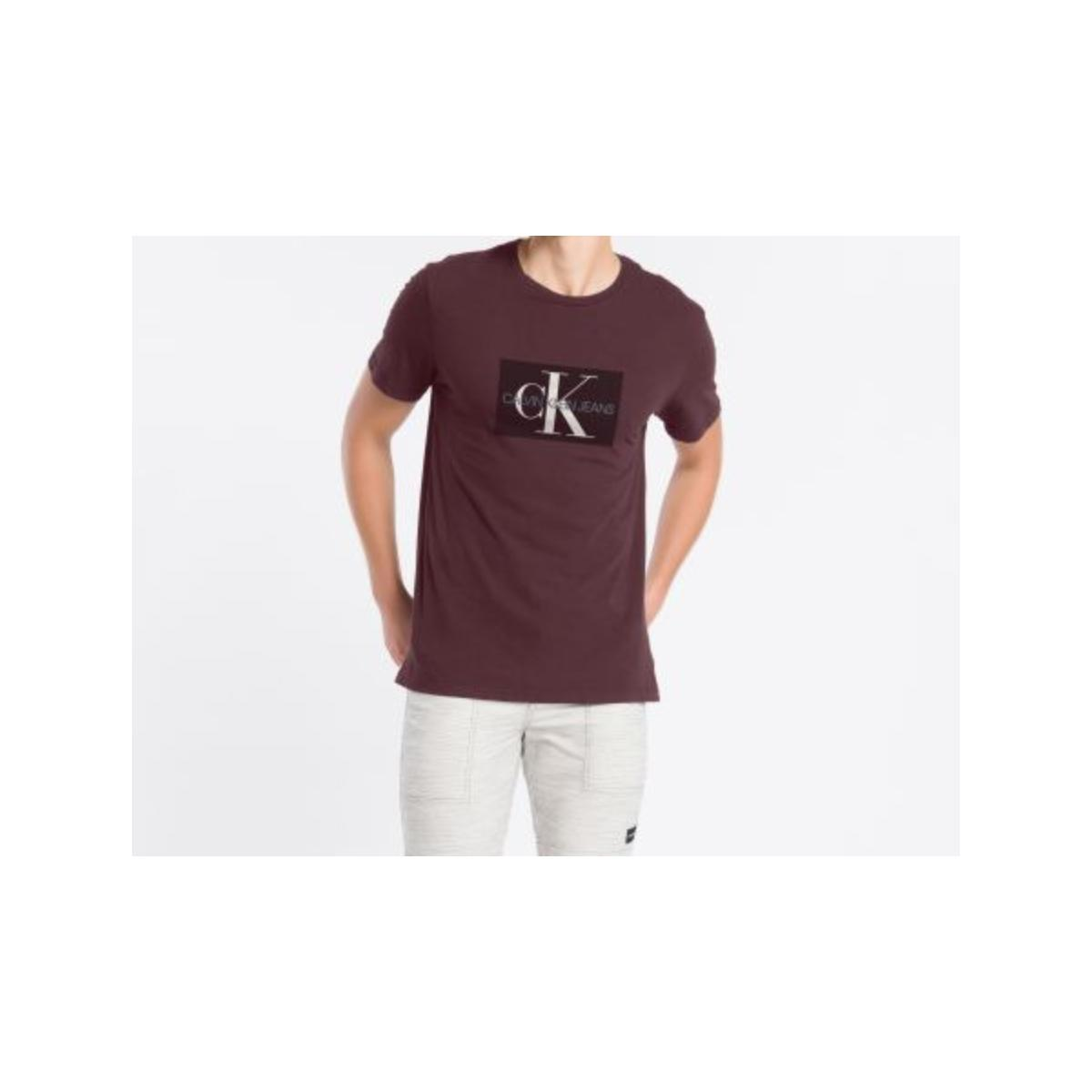 Camiseta Masculina Calvin Klein Cm1oc01i4014 Bordo