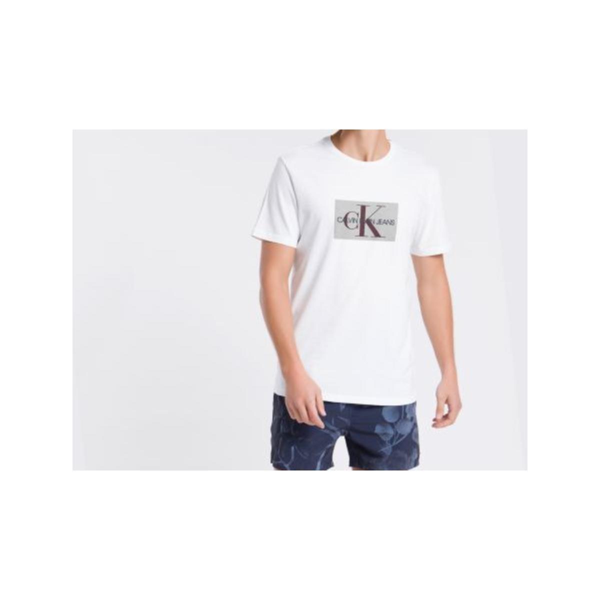 Camiseta Masculina Calvin Klein Cm1oc01i4014 Branco