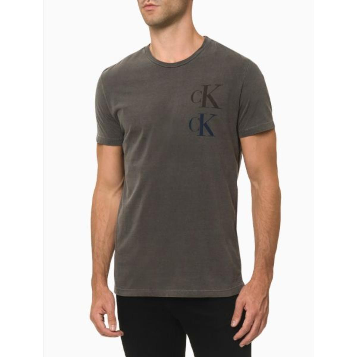 Camiseta Masculina Calvin Klein Cm1oc01i4068 Chumbo