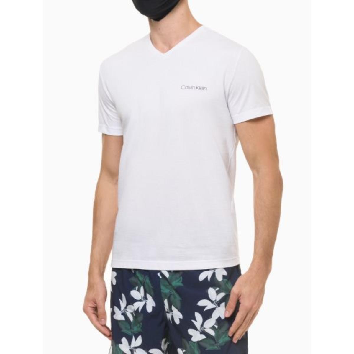 Camiseta Masculina Calvin Klein Cm1os01i3020 Branco