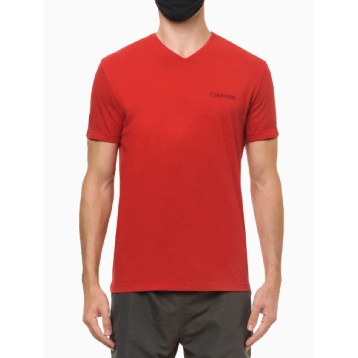 Camiseta Masculina Calvin Klein Cm1os01i3020 Vermelho