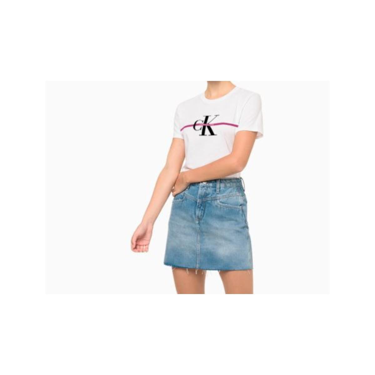 Camiseta Feminina Calvin Klein Cf1oc01bc739 Branco