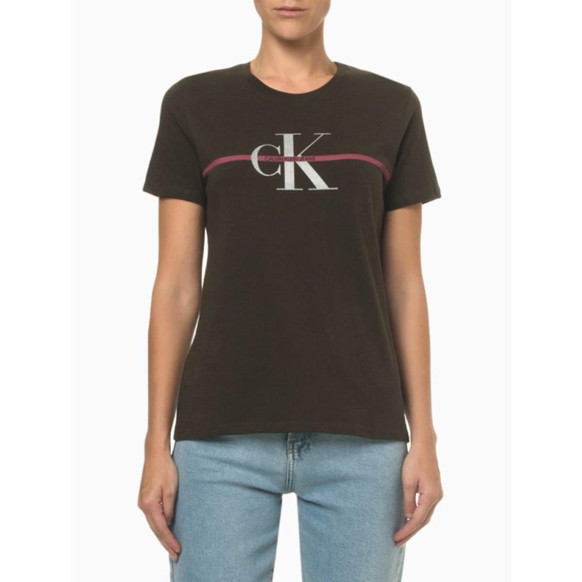 Camiseta Feminina Calvin Klein Cf1oc01bc739 Militar