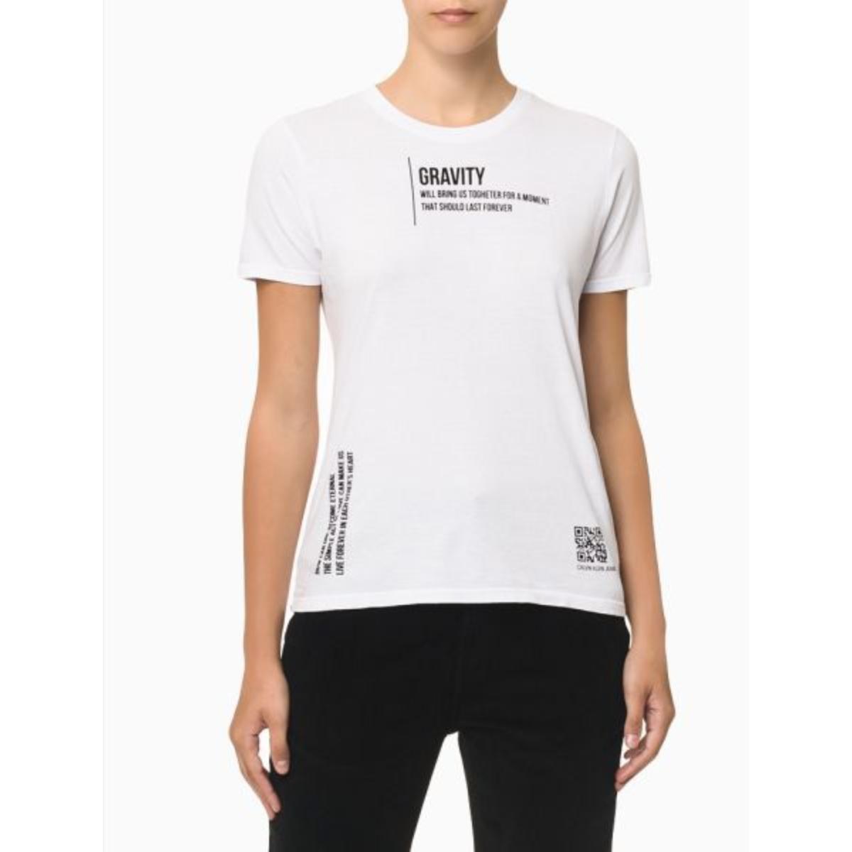 Camiseta Feminina Calvin Klein Cf1oc01bc766 Branco
