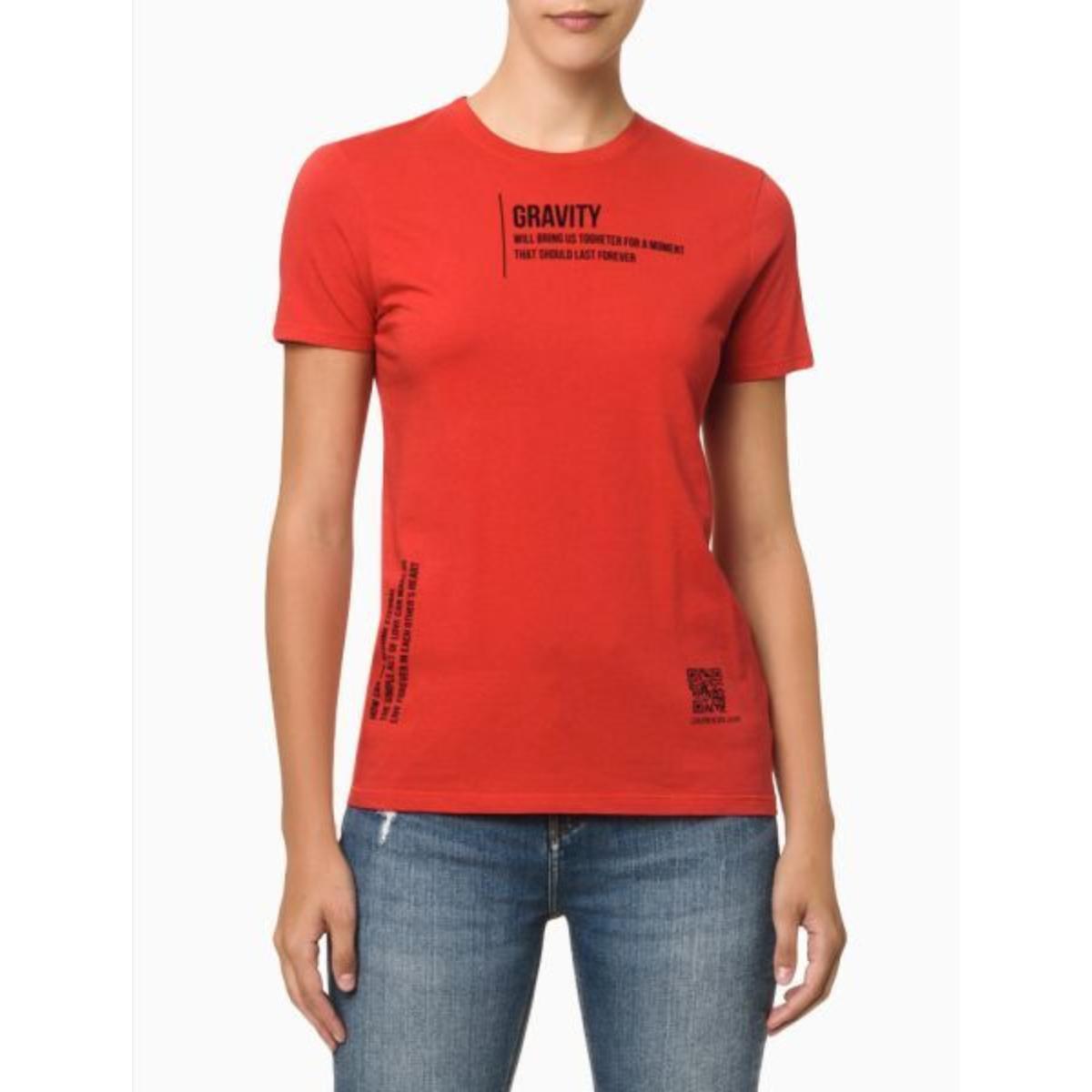 Camiseta Feminina Calvin Klein Cf1oc01bc766 Vermelho Escuro