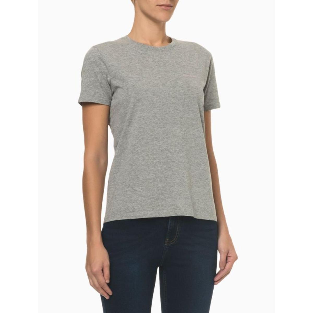Camiseta Feminina Calvin Klein Ckjf100 Mescla