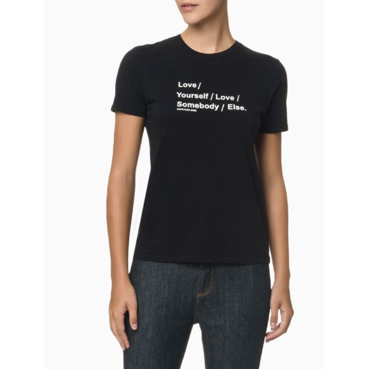 Camiseta Feminina Calvin Klein Cf1on01bc822 Preto