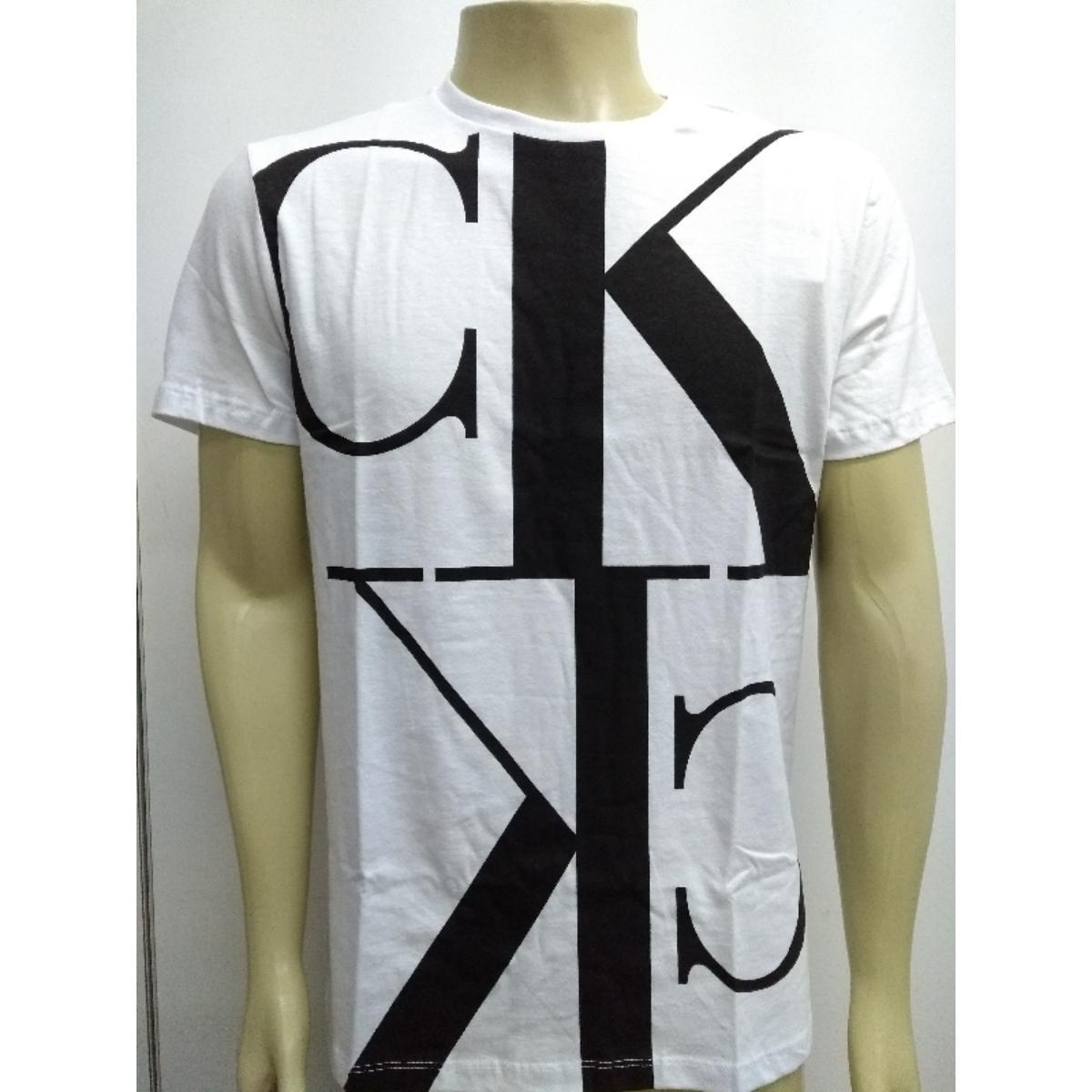 Camiseta Masculina Calvin Klein Cm0oc01tc855 Branco