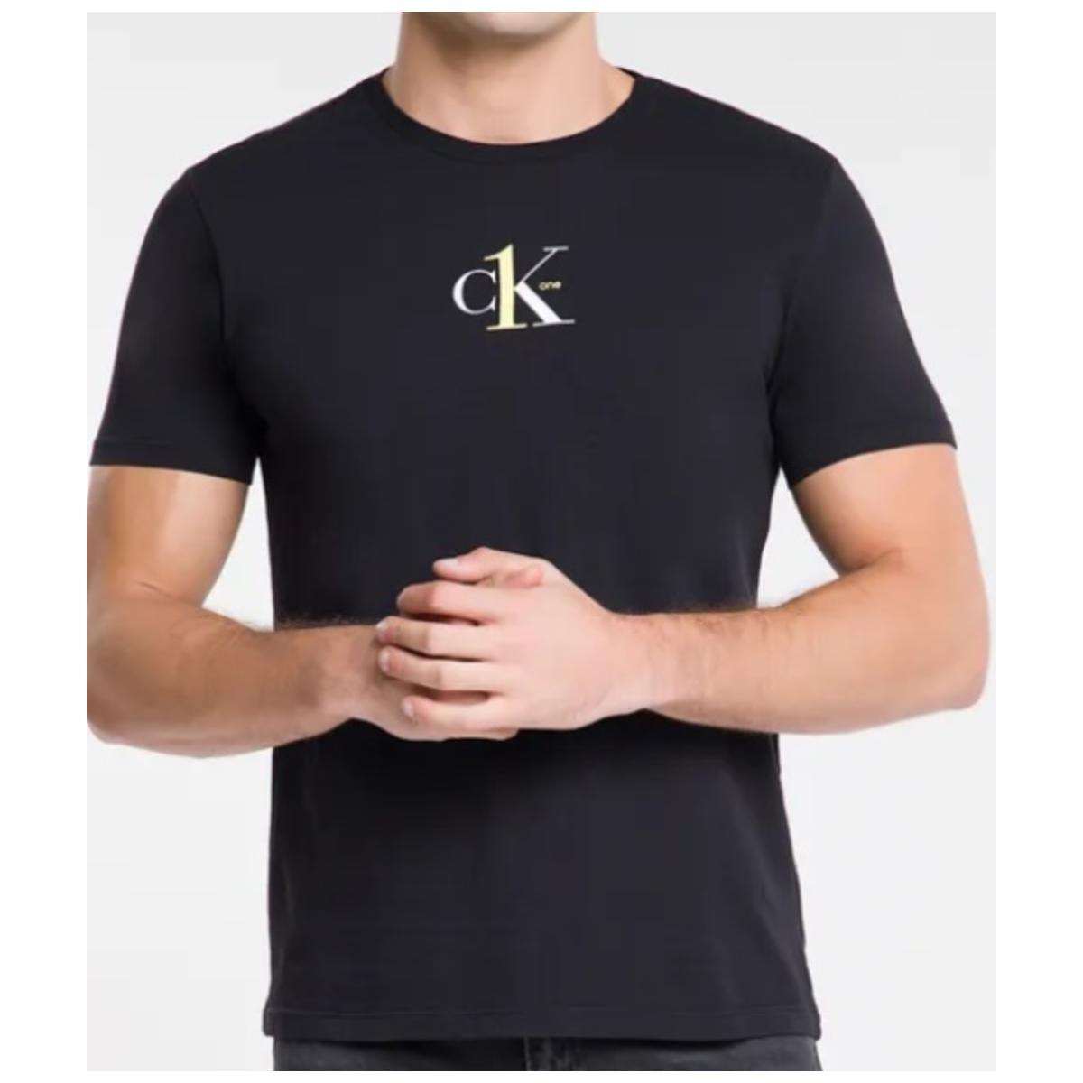 Camiseta Masculina Calvin Klein Cm0ok01tc020 Preto