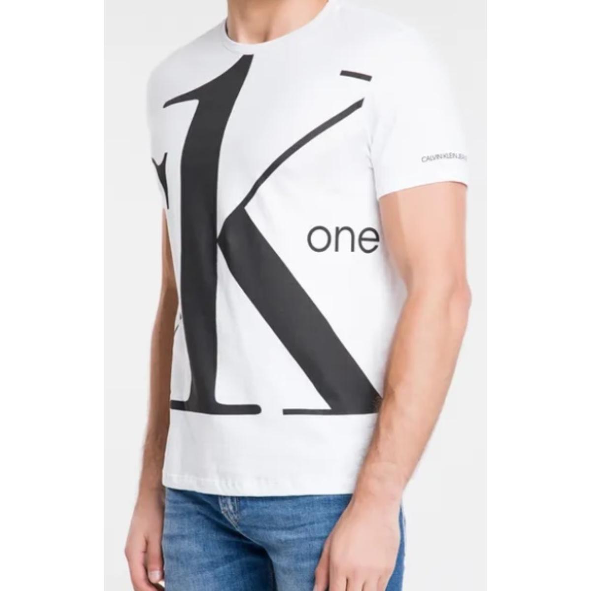 Camiseta Masculina Calvin Klein Cm0ok01tc018 Branco
