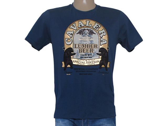 Camiseta Masculina Cavalera Clothing 01.01.8186 Azul Escuro